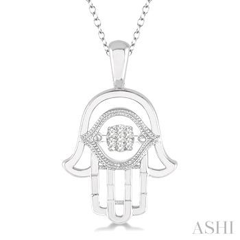 Silver Emotion Hand Of God Diamond Pendant
