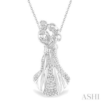 SILVER COUPLE DIAMOND PENDANT