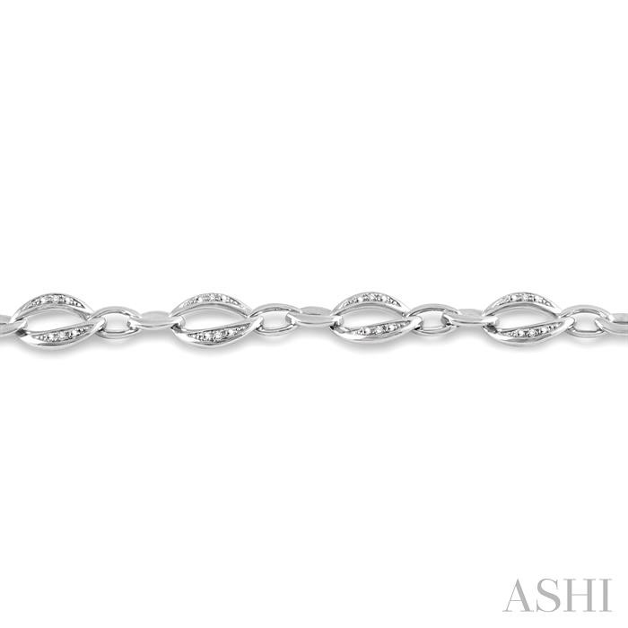 Silver Infinity Diamond Bracelet