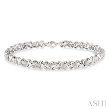 SILVER HEART DIAMOND BRACELET