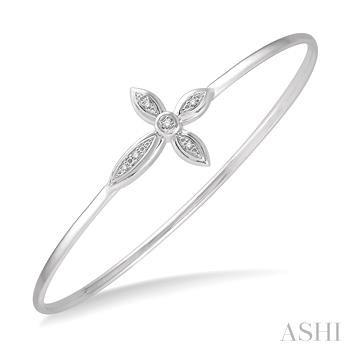 Diamond Cross Flexi Bangle