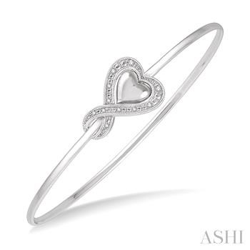 DIAMOND HEART FLEXI BANGLE