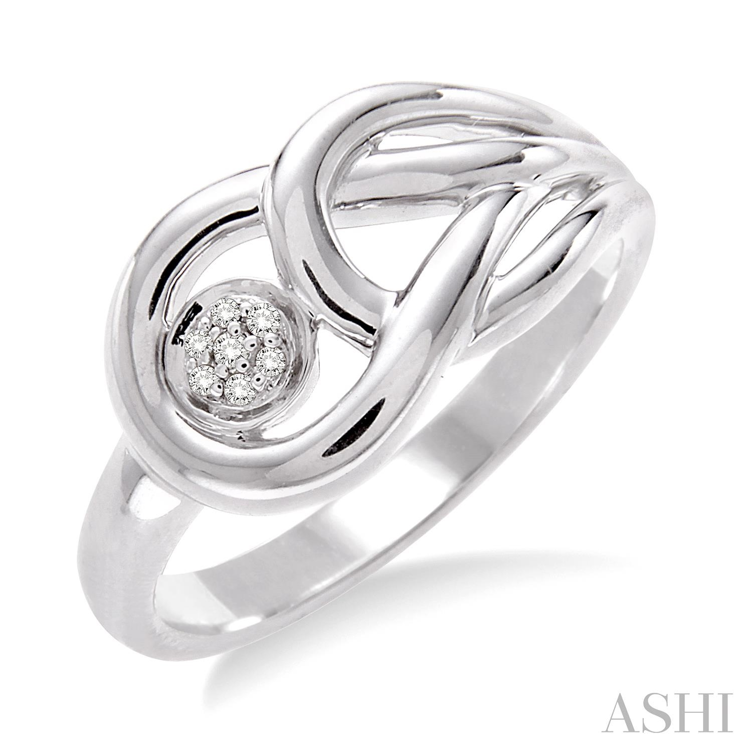 Silver Infinity Diamond Ring