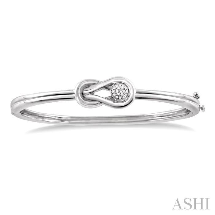 Silver Infinity Diamond Bangle