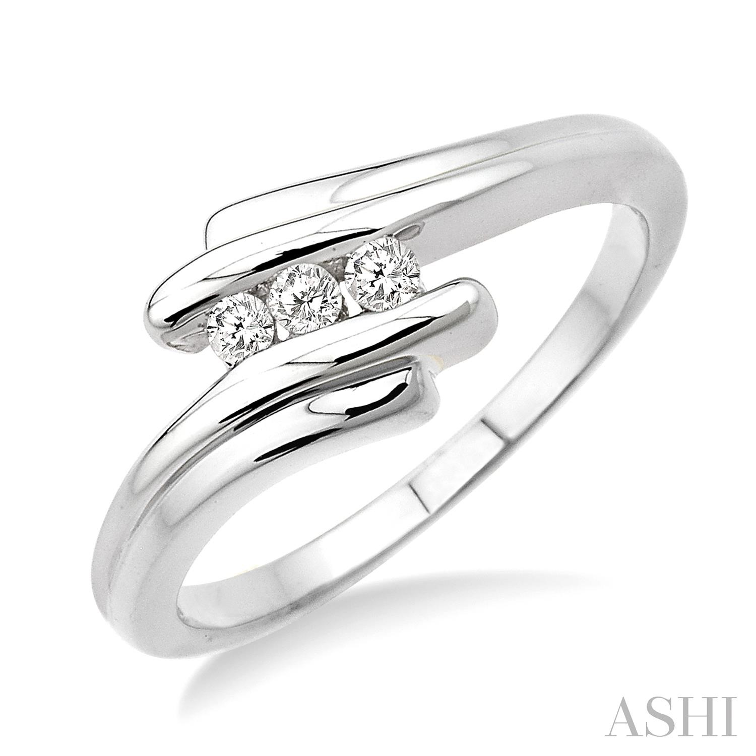 Silver Channel Set Diamond Ring