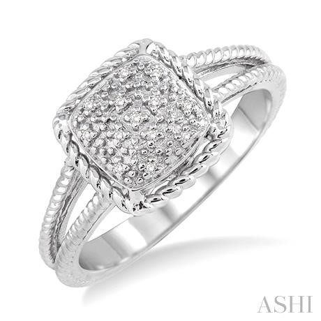 SILVER DIAMOND RING