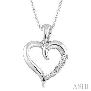 SILVER JOURNEY HEART DIAMOND PENDANT