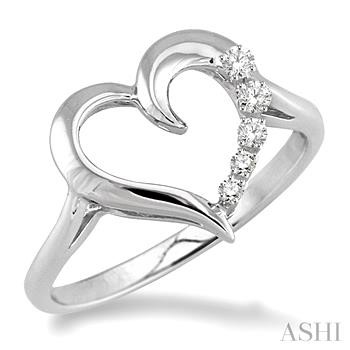 Silver Journey Heart Shape Diamond Ring