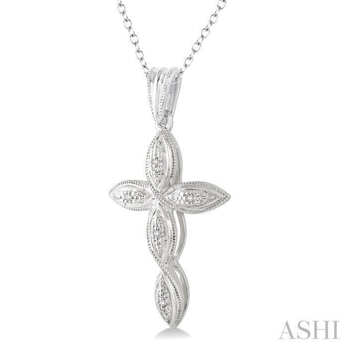 Silver Infinity Cross Diamond Pendant