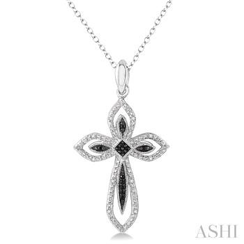 Silver Cross Diamond Pendant