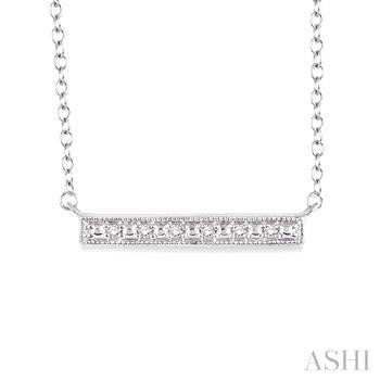 Silver Bar Diamond Pendant