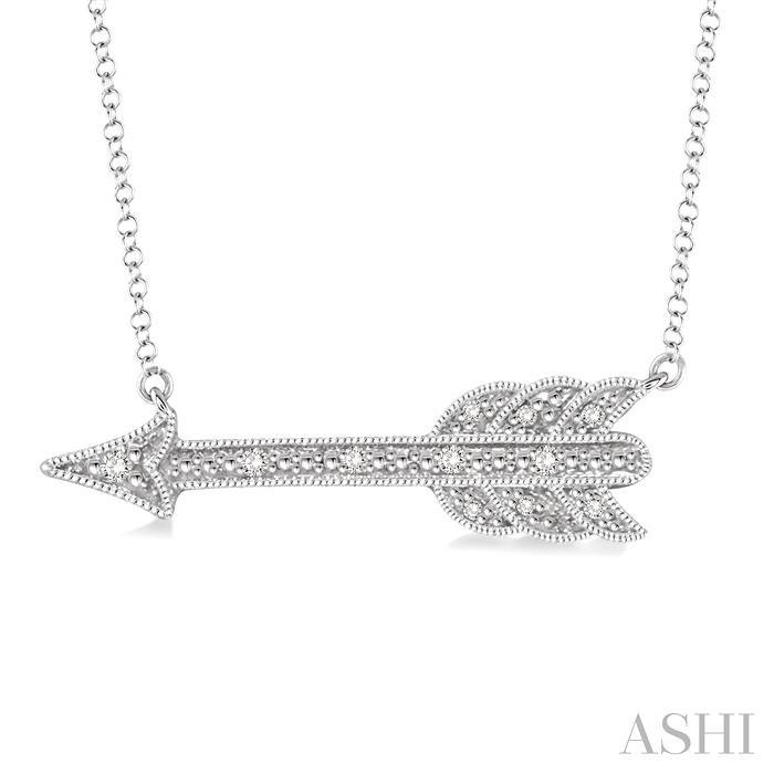 Silver Arrow Diamond Pendant