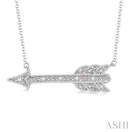 Silver Arrow Diamond Pendant