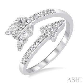 Silver Arrow Diamond Ring