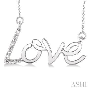 Silver Love Diamond Pendant