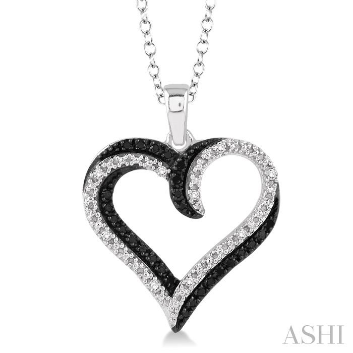 SILVER HEART DIAMOND PENDANT
