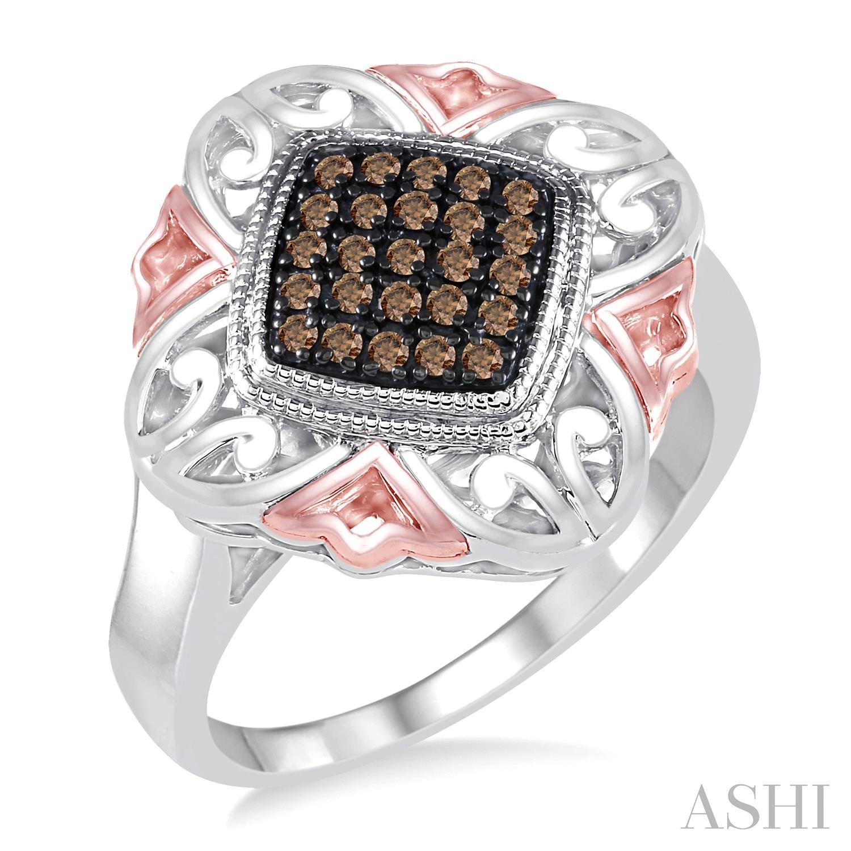 Silver Champagne Diamond Ring