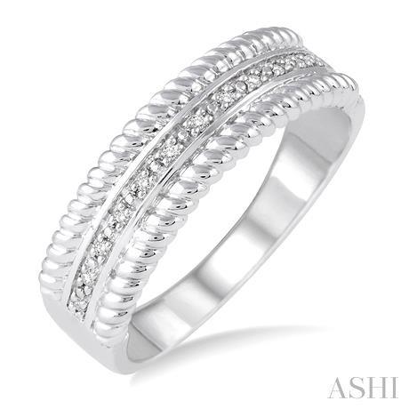 Silver Rope Diamond Ring