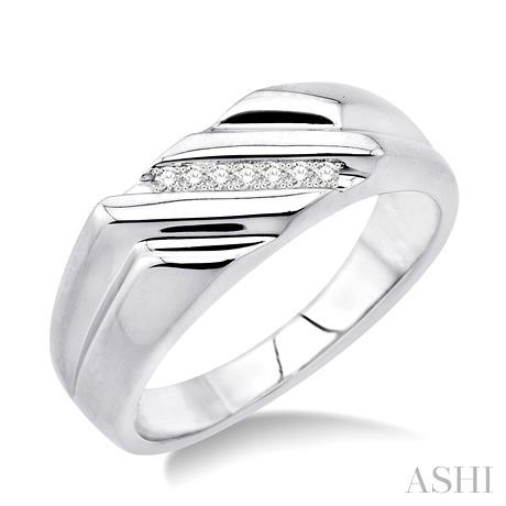 Silver Men'S Diamond Ring