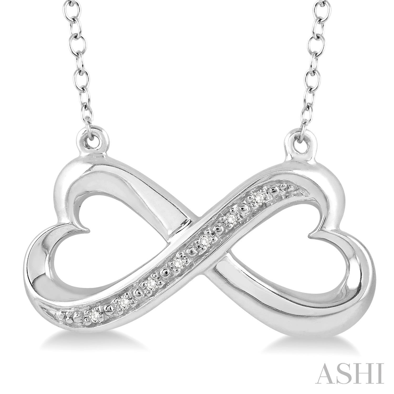 SILVER INFINITY HEART DIAMOND PENDANT