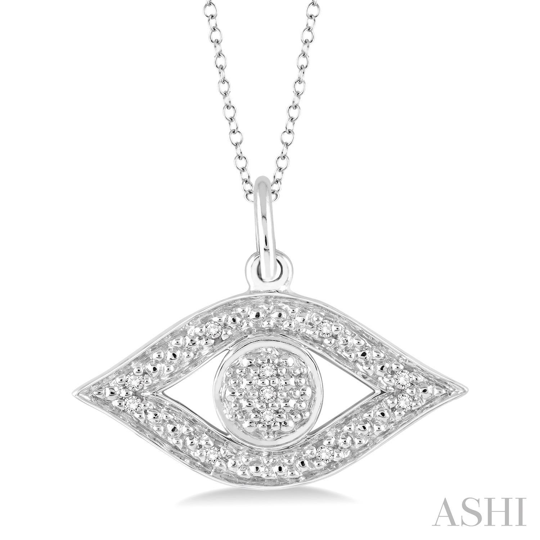 Silver Eye Diamond Pendant