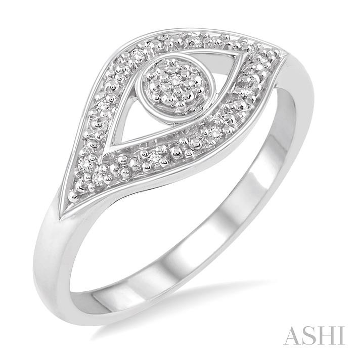 Silver Eye Diamond Ring