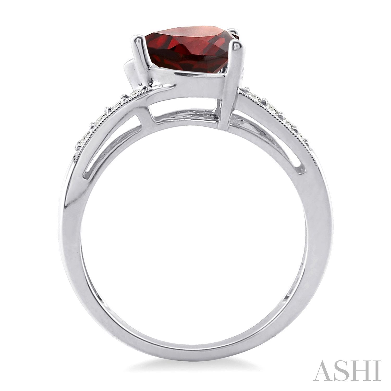 Heart Shape Silver Diamond & Gemstone Ring