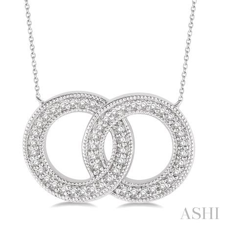 Twin Circle Diamond Pendant