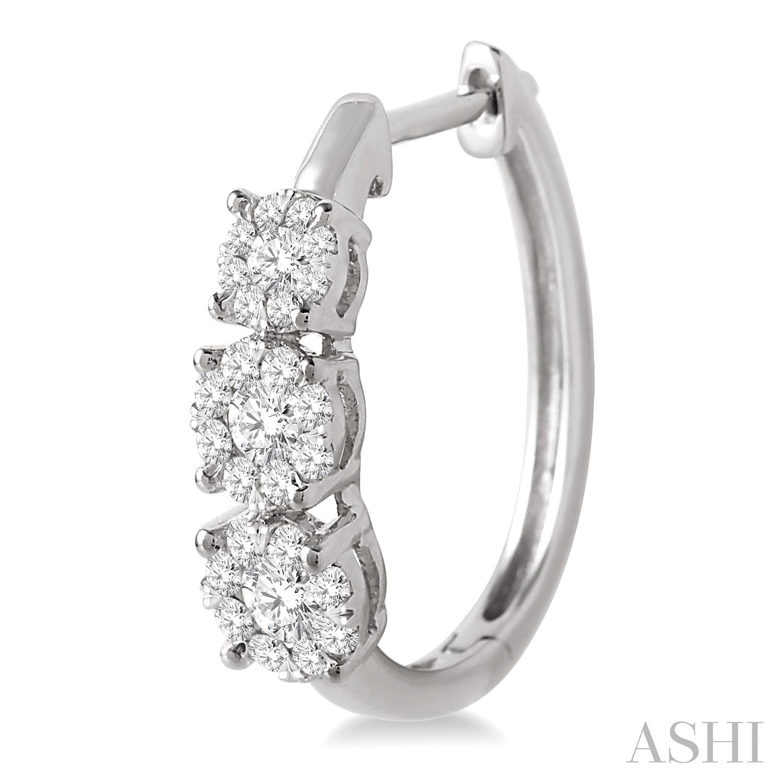Past Present & Future Lovebright Diamond Hoop Earrings