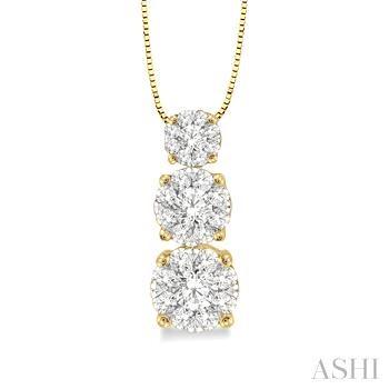 Past Present & Future Lovebright Diamond Pendant