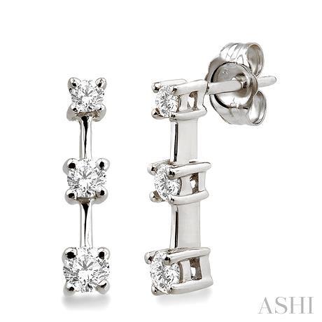 Past Present & Future Diamond Earrings