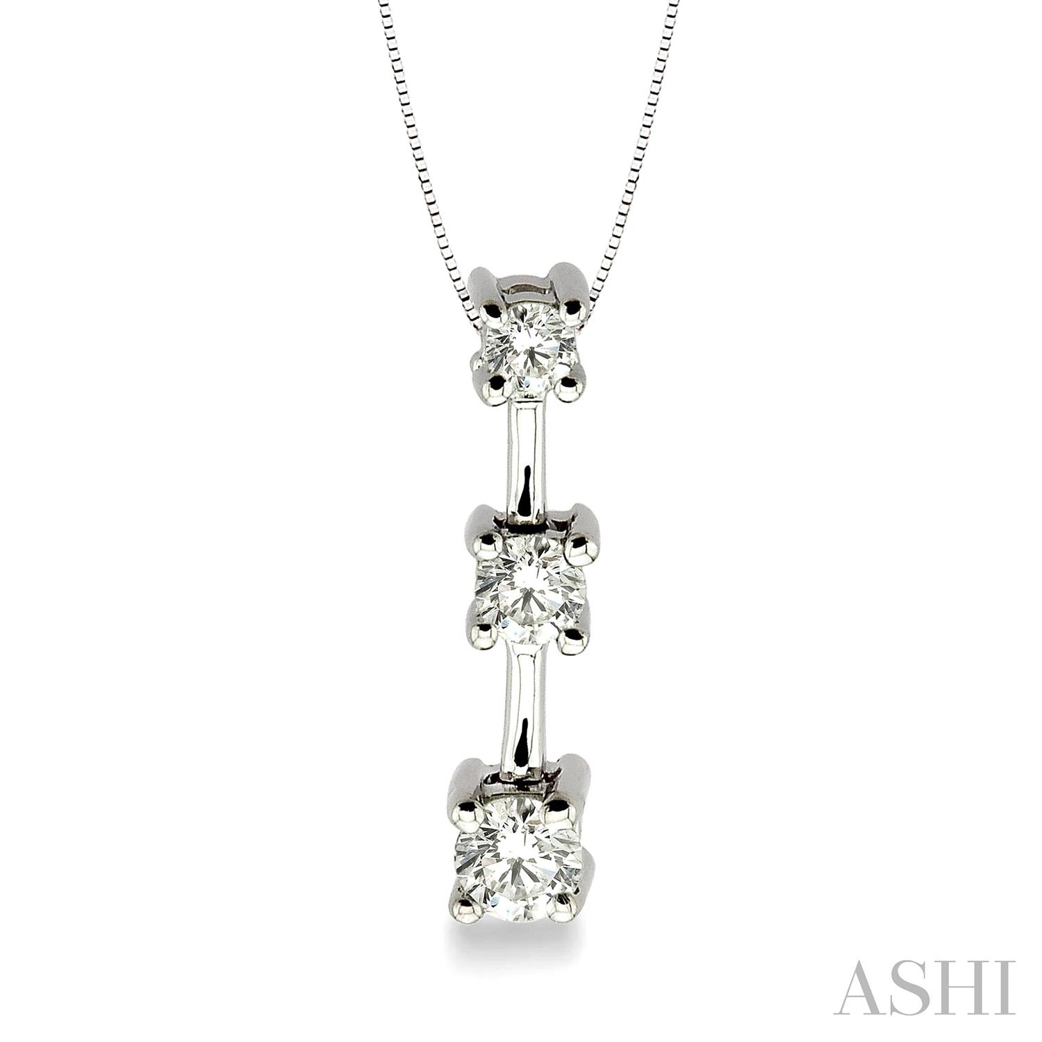 Past Present & Future Diamond Pendant