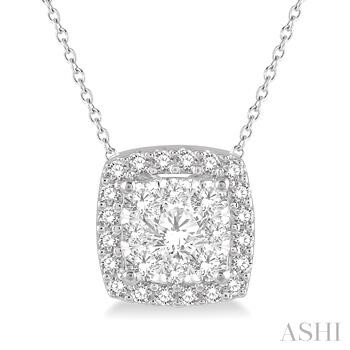 CUSHION SHAPE LOVEBRIGHT DIAMOND PENDANT
