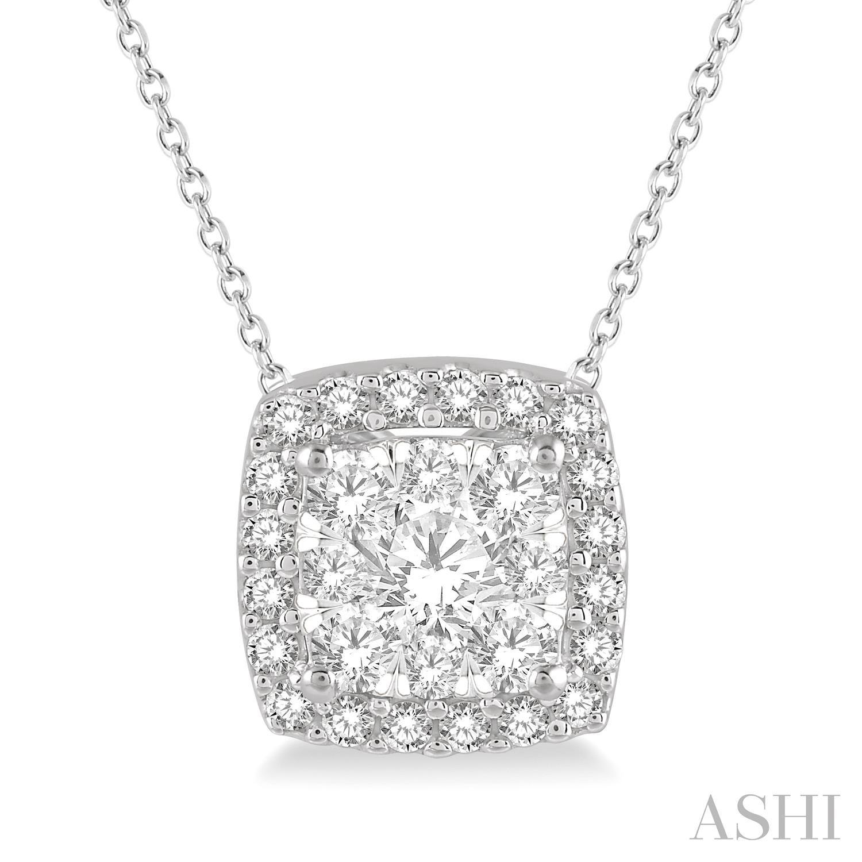 CUSHION SHAPE LOVEBRIGHT ESSENTIAL DIAMOND PENDANT
