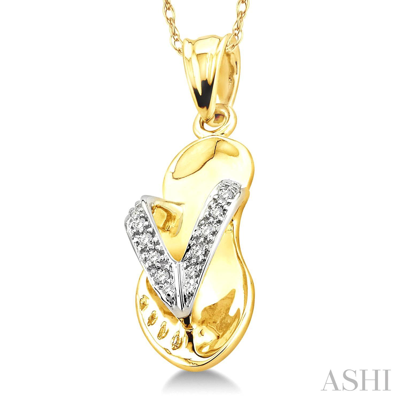 Diamond Flip Flop Pendant