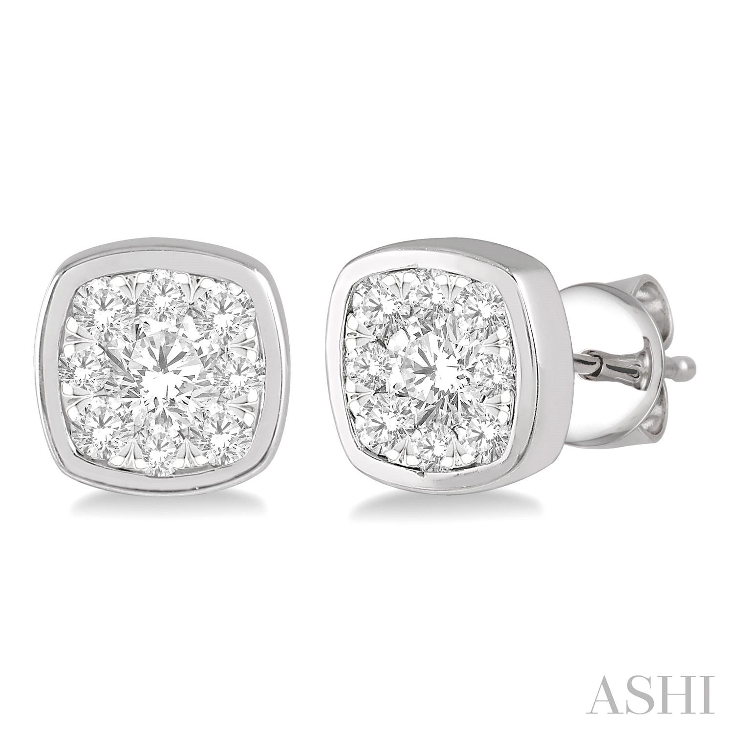 CUSHION SHAPE LOVEBRIGHT ESSENTIAL DIAMOND EARRINGS