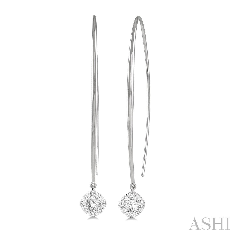 CUSHION SHAPE LOVEBRIGHT ESSENTIAL DIAMOND EARRINGS