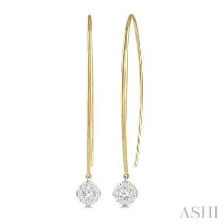 CUSHION SHAPE LOVEBRIGHT DIAMOND EARRINGS
