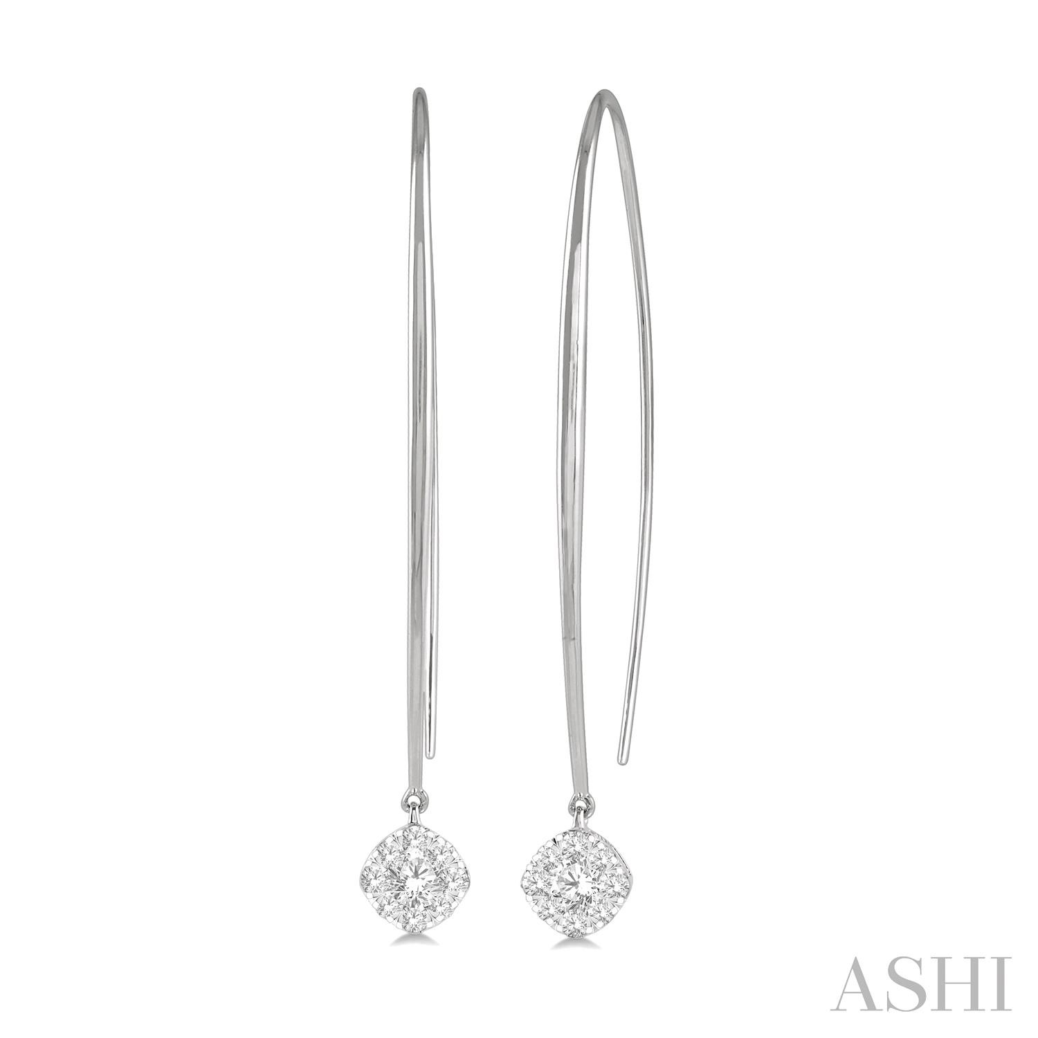 CUSHION SHAPE LOVEBRIGHT DIAMOND EARRINGS