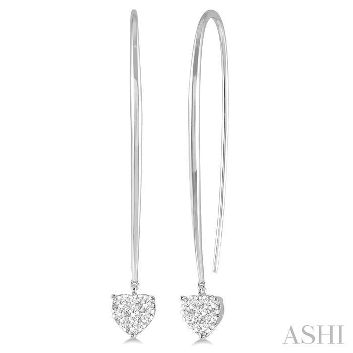 Heart Shape Lovebright Diamond Earrings