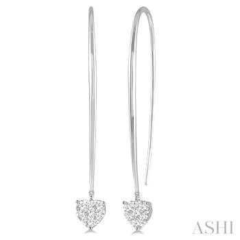 Heart Shape Lovebright Diamond Earrings