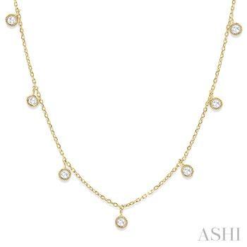 Rose Cut Diamond Station Necklace