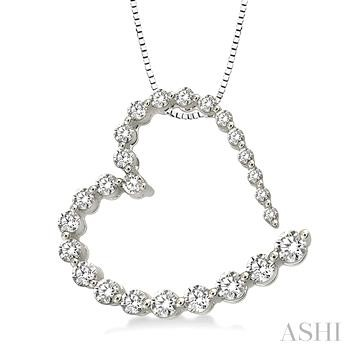 JOURNEY HEART DIAMOND PENDANT