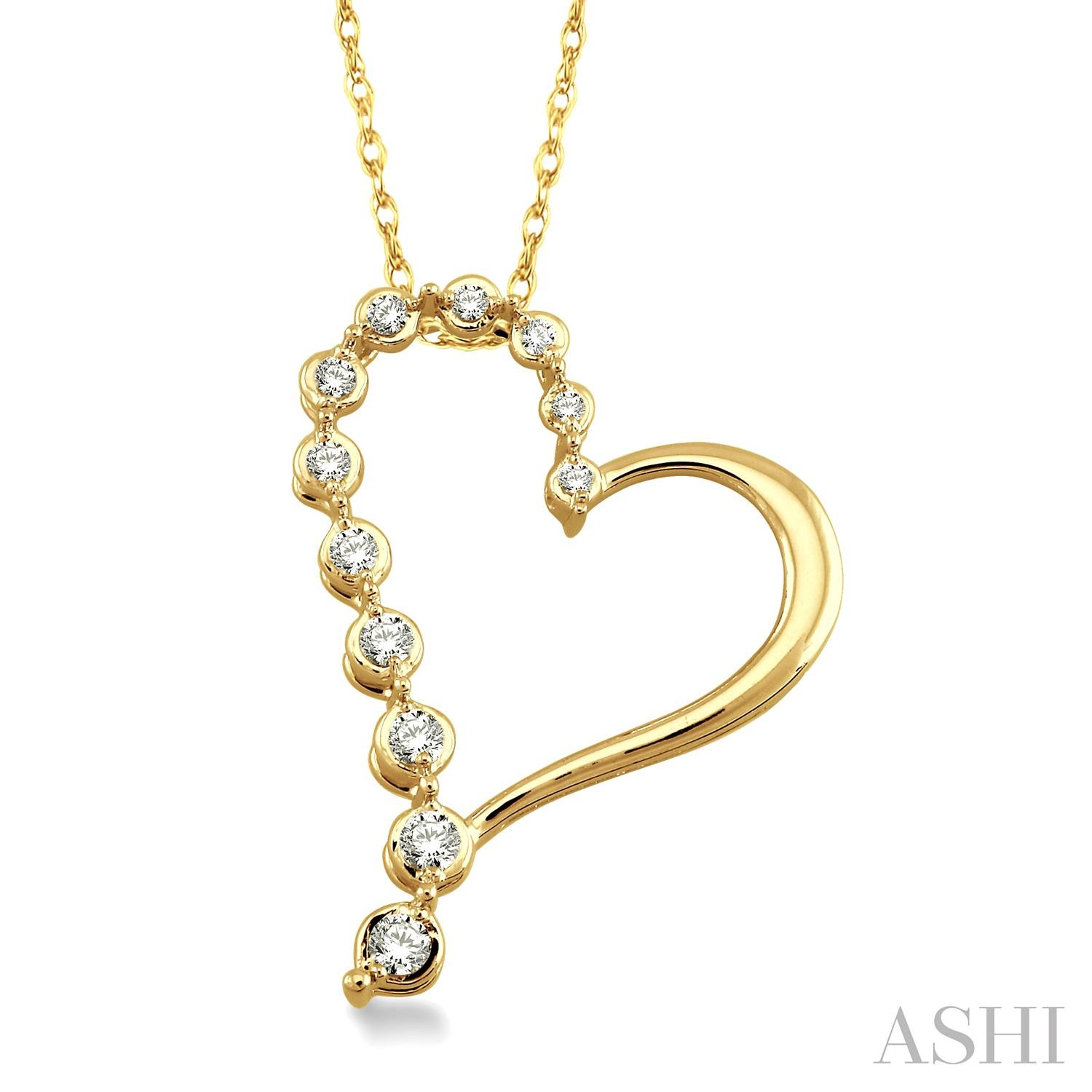 HALF JOURNEY DIAMOND HEART PENDANT