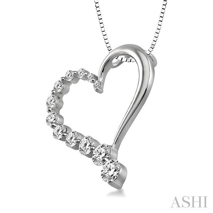 Half Journey Diamond Heart Shape Pendant