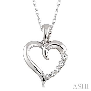 Journey Heart Shape Diamond Pendant