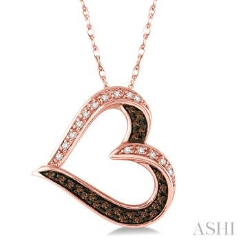 Heart Shape Champagne Diamond Pendant