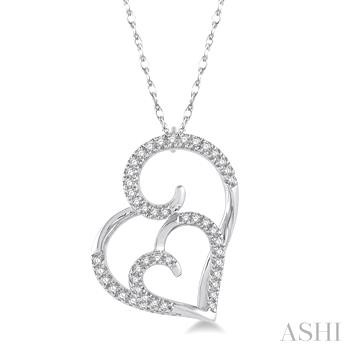 DOUBLE HEART SHAPE DIAMOND PENDANT