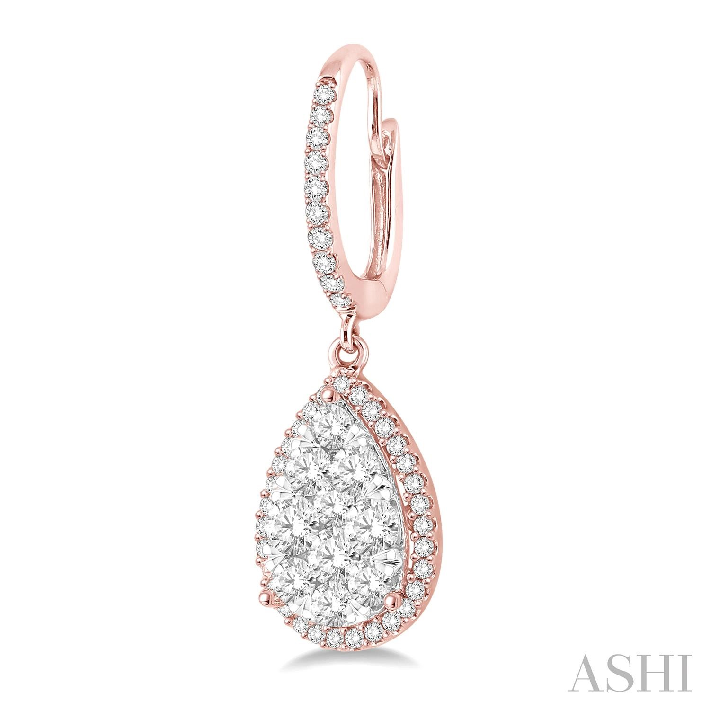 PEAR SHAPE LOVEBRIGHT DIAMOND EARRINGS