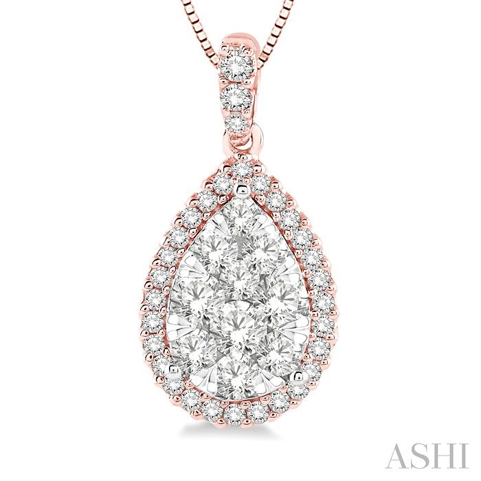 Pear Shape Lovebright Essential Diamond Pendant
